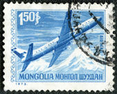 MONGOLIA - 1973: shows Airliner — Stock Photo