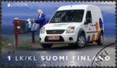 FINLAND - 2013: shows Postal Vehicle — Stock Photo