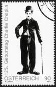 AUSTRIA - 2014: shows portrait of Charlie Chaplin (1889-1977), 125th anniversary of birthday — Stock Photo
