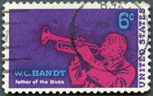 USA - 1969: shows William Christopher Handy (1873-1958), Blues Musician and Composer — Stok fotoğraf