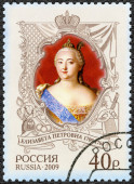RUSSIA - 2009: shows The 300th anniversary of birth of Elizaveta Petrovna (1709-1762), empress, History of the Russian State — Zdjęcie stockowe