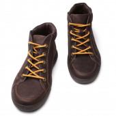 Hnědé kožené boty — Stock fotografie