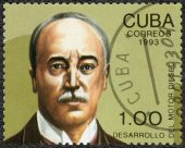 CUBA - 1993: shows  Rudolf Diesel (1858-1913), 80th anniversary — Foto de Stock