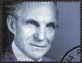 AUSTRIA - 2003: shows portrait of Henry Ford (1863-1947), Ford Motor Company century — Stock Photo