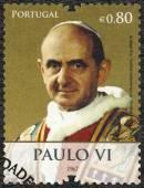 PORTUGAL - 2010: shows Pope Paul VI (1897-1978), devoted Pope Bento XVI visits Portugal — Stock Photo
