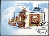 RUSSIA - 1992: shows Christopher Columbus, devoted to 500th anniversary of the discovery of America — Stock Photo