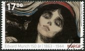 NORWEY - 2013: shows Detail from Madonna by Edvard Munch (1895, The Munch Museum) — Стоковое фото