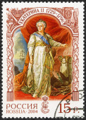 RUSSIA - 2004: shows Catherine II Alekseevna (1729-1796), empress, History of the Russian State — Stock Photo