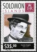SOLOMON ISLANDS - 2014: shows portrait of Charlie Chaplin (1889-1977), 125th anniversary of birthday — Stock Photo