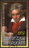 DJIBOUTI - 2009: shows Ludwig van Beethoven (1770-1827), composer — Stock Photo