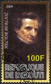 DJIBOUTI - 2009: shows Hector Berlioz (1803-1869), composer — Stock Photo