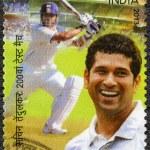 INDIA - 2013: shows Sachin Tendulkar, cricketer player, dedicated 200th Test Match — Stock Photo #58645769