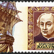RUSSIA - 1992: shows Christopher Columbus, devoted to 500th anniversary of the discovery of America — Stock Photo #58943301
