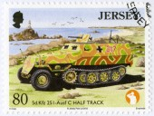 JERSEY - 2013: shows SD KFZ 251 - Ausf C Half Track, series Military Vehicles — Стоковое фото