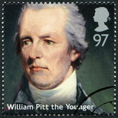 UNITED KINGDOM - 2014: shows William Pitt the Younger (1759-1806), politician, series Prime Ministers — Stock Photo