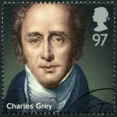 UNITED KINGDOM - 2014: shows Charles Grey, 2nd Earl Grey (1764-1845), politician, series Prime Ministers — Stock Photo