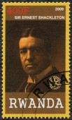 RWANDA - 2009: shows portrait of Sir Ernest Henry Shackleton (1874-1922) — 图库照片