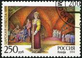 "RUSSIA - 1994: shows an episode from the opera ""The Tsar's Bride"", The 150th birth anniversary of the composer (1844-1908) — Stock Photo"