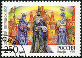 "RUSSIA - 1994: shows an episode from the opera ""The Golden Cockerel"", The 150th birth anniversary of the composer (1844-1908) — Stock Photo"