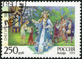 "RUSSIA - 1994: shows an episode from the opera ""The Snow Maiden"", The 150th birth anniversary of the composer (1844-1908) — Stock Photo"