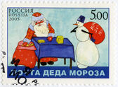 RUSSIA - 2005: shows Ded Moroz's mail — Stockfoto