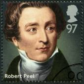 UNITED KINGDOM - 2014: shows Sir Robert Peel (1788-1850), politician, series Prime Ministers — Stock Photo