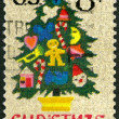 UNITED STATES OF AMERICA - 1973: shows Christmas Tree in Needlep — Stock Photo #60541185