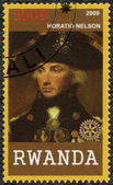 RWANDA - 2009: shows portrait of Horatio Nelson (1758-1805) — Stock Photo