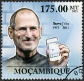 MOZAMBIQUE - 2011: shows portrait of Steve Jobs (1955-2011) — Stock Photo