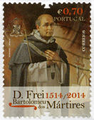 PORTUGAL - 2014: shows Blessed Friar Bartolomeu dos Martires (1514-1590), devoted 500th anniversary of birthday — Stock Photo