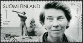 FINLAND - 2014: shows Tove Jansson, writer, 100th birth anniversary — Stock Photo