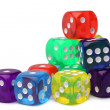 Many-colored dice set — Stock Photo #63286867
