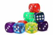 Many-colored dice set — Stock Photo
