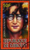 DJIBOUTI - 2011: shows John Ono Lennon, a singer — Stock Photo