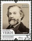 PORTUGAL - 2013: shows portrait of Giuseppe Verdi (1813-1901), Italian composer — Stock Photo