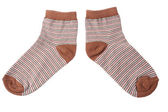 Pair of child's striped socks — Stock Photo