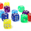 Many-colored dice set — Stock Photo #68089585