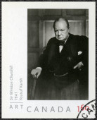CANADA - 2008: shows Sir Winston Churchill (1874-1965), portrait  photographer by Yousuf Karsh, 1941 — Stockfoto