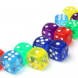 Many-colored dice set — Stock Photo #69738623