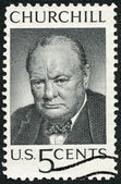 USA - 1965: shows Sir Winston Spencer Churchill (1874-1965), British statesman and WWII leader — Stock Photo