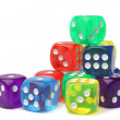 Many-colored dice set — Stock Photo #70727541