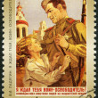 RUSSIA - 2000: shows poster V.I.Ladyagin, I waited for you, a soldier  liberator!, 1945, series 55th anniversary of Victory in Great Patriotic War of 1941-1945 — Stock Photo #70829869