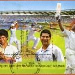 INDIA - 2013: shows Sachin Tendulkar, cricketer player, dedicated 200th Test Match — Stock Photo #71490311