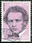 SWITZERLAND - 1972: shows Oscar Arthur Honegger (1892-1955), composer, series Portraits and Signatures — Stock Photo