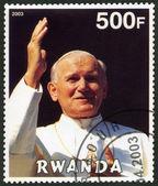 RWANDA - 2003: shows Pope John Paul II - 25th Anniversary of the Pontificate — Stock Photo