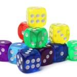 Many-colored dice set — Stock Photo #73847595