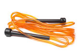 Orange skipping rope — Stock Photo