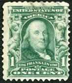 ベンジャミン ・ フランクリン (1706年-1790年の米国 - 1903年: ショーの肖像画) — ストック写真