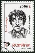 Romanya - 1999: gösterir Toma Caragiu (1925-1977), serisi çizgi oyuncuları — Stok fotoğraf