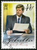 GIBRALTAR - 2008: shows of John F. Kennedy (1917-1963), series Europa letter writing — Стоковое фото